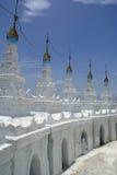 White stupas Stock Images