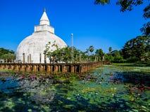 White Stupas Dagobas in Sri Lanka Stock Photography