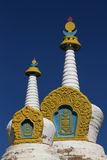 White Stupas Stock Photos