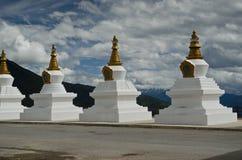 White stupas Stock Image
