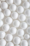 White styrofoam balls Royalty Free Stock Photos