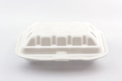 White styrofoam box. Royalty Free Stock Images