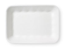 White styrofoam food tray Royalty Free Stock Photo