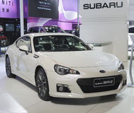White subaru brz car Stock Photos