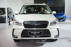 White subaru forester car Royalty Free Stock Image