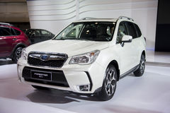 White subaru forester car Stock Images