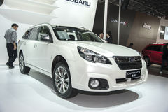 White subaru outback car Royalty Free Stock Photo