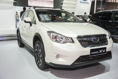 White subaru xv car Royalty Free Stock Photography