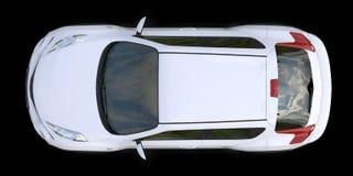 White subcompact crossover SUV on black background. 3d rendering. White subcompact crossover SUV on black background. 3d rendering stock illustration