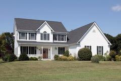 White suburban home Stock Photo