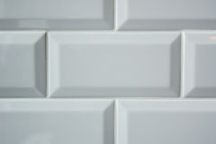 White Subway Tile Background Stock Photography