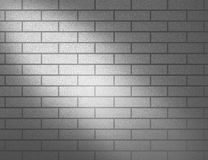White subway tile with spotlight Royalty Free Stock Images