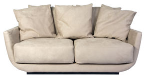 White Suede Sofa stock photography
