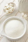 Sugar. White sugar in a bowl Royalty Free Stock Photos