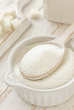 Sugar. White sugar in a bowl Royalty Free Stock Image