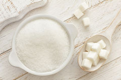 Sugar. White sugar in a bowl Stock Images