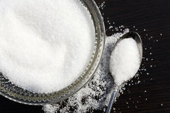 White sugar in bowl Stock Photo