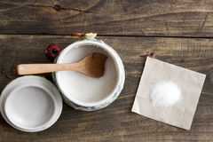 White sugar in  bowl Royalty Free Stock Photo