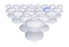 White Sugar Bowls Arranged In A Pattern  Royalty Free Stock Image