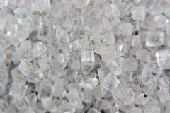White Sugar Crystals Macro Royalty Free Stock Images
