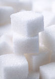 White sugar cubes. Close up Stock Images