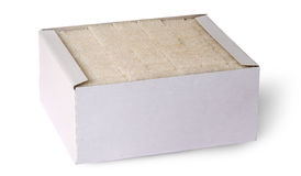 White sugar cubes in a box Stock Image