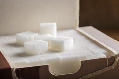 White sugar cubes Royalty Free Stock Photos