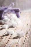 White sugar cubes closeup Stock Image