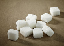 White sugar cubes Royalty Free Stock Photos