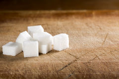 White sugar cubes Stock Photography
