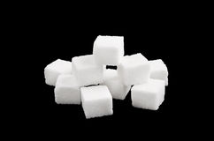 White sugar isolated Royalty Free Stock Photography