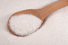 White sugar in a spoon Royalty Free Stock Image