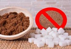 White sugar stop Royalty Free Stock Photo