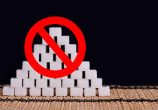White sugar stop Royalty Free Stock Images