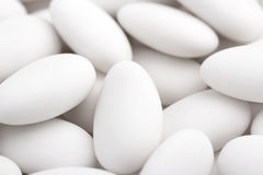 White sugared almonds Royalty Free Stock Images