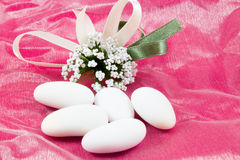 White sugared almonds Stock Photography