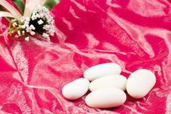 White sugared almonds Royalty Free Stock Photo