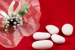 White sugared almonds Stock Image