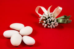 White sugared almonds Royalty Free Stock Photos