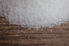 White sugars on a wood table Stock Photo