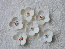 White sugary flowers Royalty Free Stock Photos