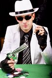 White suit gangster Royalty Free Stock Photography