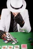 White suit gangster Stock Photos