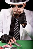 White suit gangster Royalty Free Stock Photo
