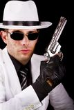 White suit gangster Stock Photography