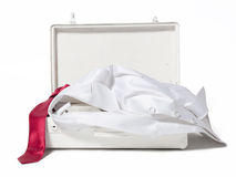 White suitcase Royalty Free Stock Images