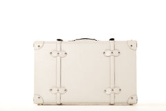White suitcase on white bacground Royalty Free Stock Image