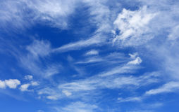 White summer clouds in blue sky Stock Images