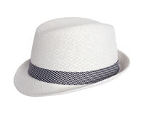 White summer hat isolated on white background Royalty Free Stock Images