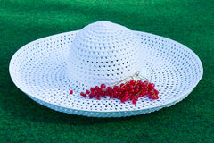 White summer hat Royalty Free Stock Photo
